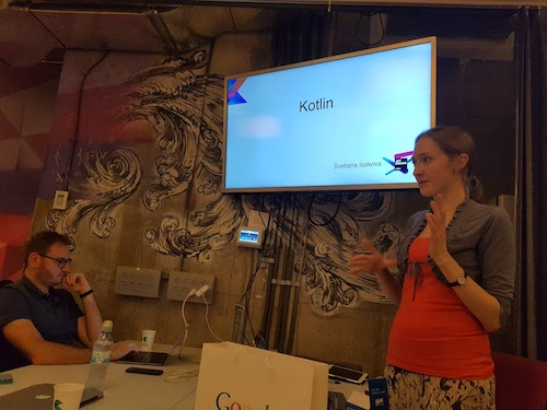 Svetlana Isakova teaching us Kotlin